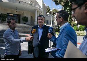 محمد اسلامی وزیر راه و شهرسازی در حاشیه جلسه هیئت دولت
