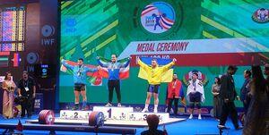 مدالهای طلا و برنز جهانی وزنهبردار کشور در دسته ۱۰۲ کیلوگرم