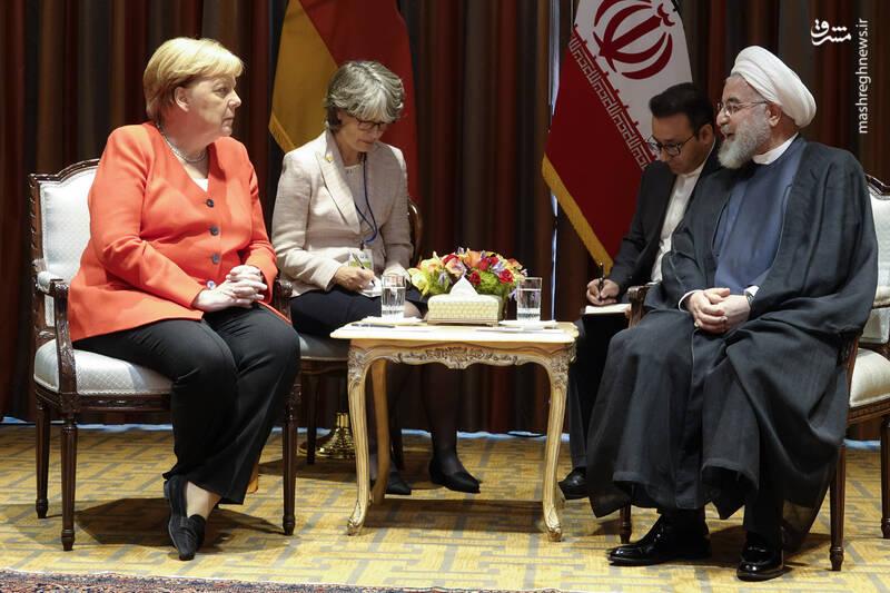 دیدار روحانی با صدر اعظم آلمان