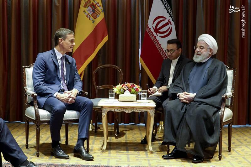 دیدار روحانی با  نخست وزیر اسپانیا
