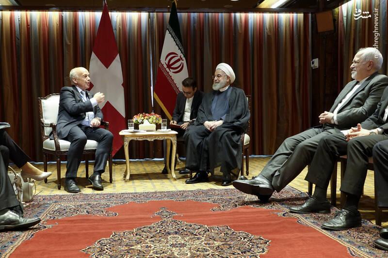 دیدار روحانی با رئیس جمهور سوئیس