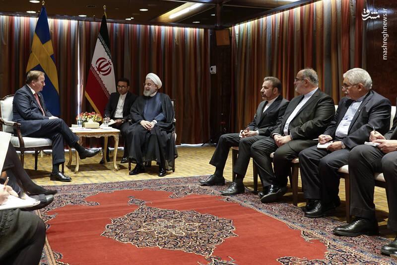 دیدار روحانی با نخست وزیر سوئد