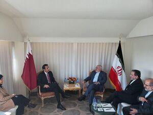 وزرای امور خارجه ایران و قطر