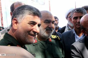 عکس/ بازدید فرمانده سپاه پاسداران از مرز مهران