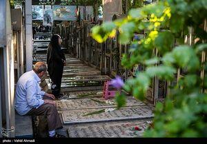 عکس/ غبار روبی مزار شهدا در بهشت زهرا(س)