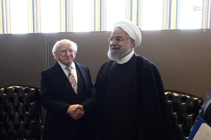دیدار دکتر روحانی با رئیس جمهور ایرلند