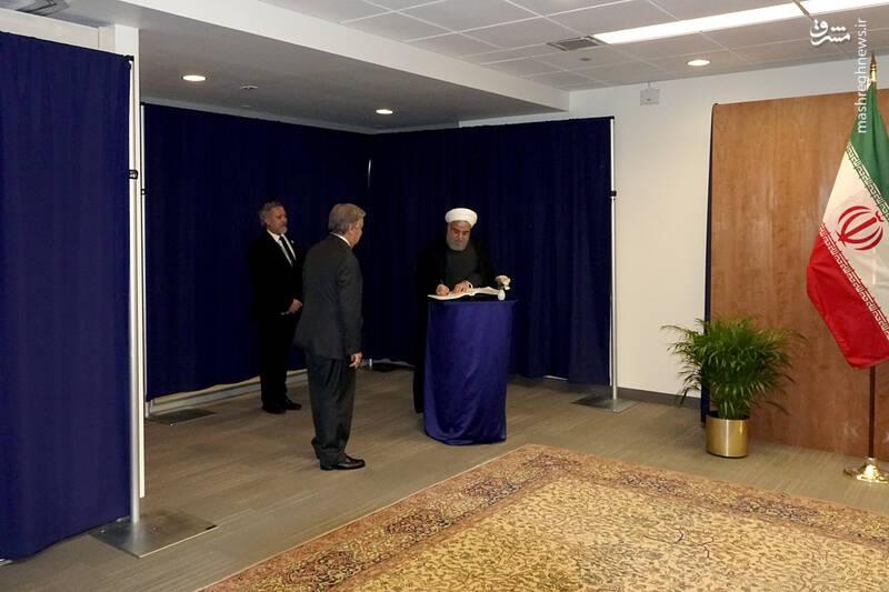 دیدار دکتر روحانی با دبیرکل سازمان ملل