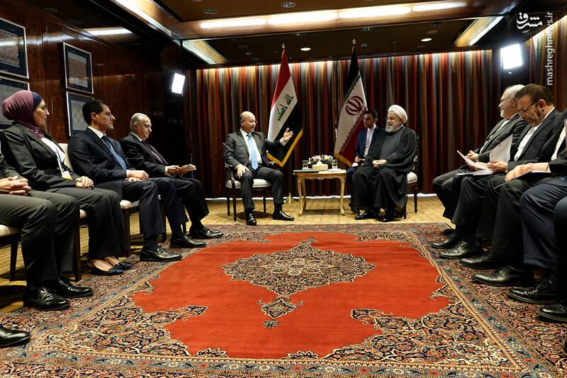 دیدار رییس جمهور عراق برهم صالح با دکتر روحانی