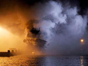 عکس/ نروژ به داد کشتی روسیه رسید