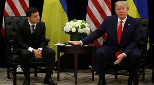 چهره دلهره آور رئیس جمهور اوکراین در دیدار با ترامپ