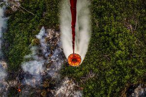 تصاویر جدید از آتش سوزی گسترده در اندونزی