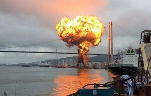 آتش گرفتن یک نفتکش در نزدیکی سواحل شارجه