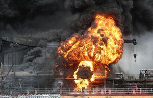 آتش سوزی دو نفتکش در سواحل کره جنوبی؛