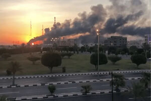 تصاویر جدید از انفجارهای تاسیسات نفتی آرامکو