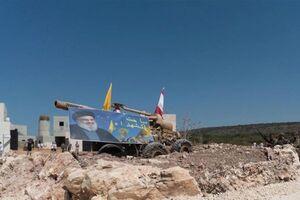 پرچم حزبالله و عکس «نصرالله» در شهرک صهیونیستی