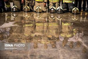 آتش نشانهای تهران در اهواز +فیلم