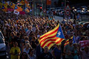 عکس/ تظاهرات جداییطلبان کاتالونیا در اسپانیا
