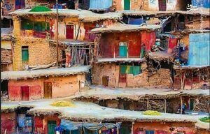نمای زیبا از روستای سرآقاسید