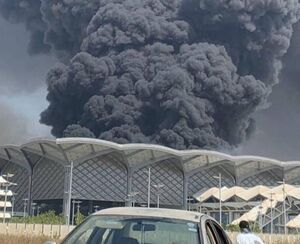 اولین تصویر از آتشسوزی در ایستگاه قطار «الحرمین» در جده عربستان