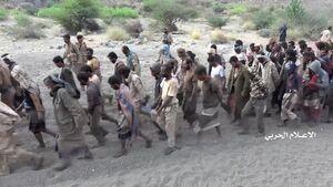 فیلم/ صف کیلومتری اسرای مزدوران سعودی