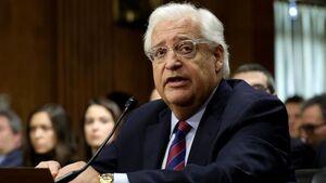 دیوید فریدمن: برای دیدار با ایران تحریمها رفع نمیشوند