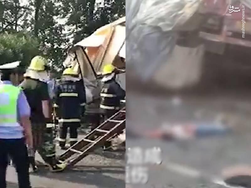 اولین تصویر منتشر شده از تصادف مرگبار در چین
