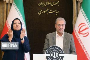 عکس/ جلسه سخنگوی دولت با حضور رابط ناشنوایان