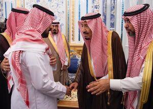 عکس/ دیدارخانواده محافظ کشته شده با شاه سعودی