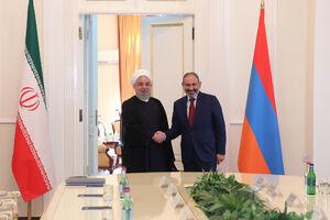 عکس/ دیدار روحانی با نخست وزیر ارمنستان