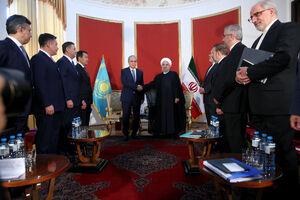 عکس/ دیدار روحانی با رییس جمهور قزاقستان