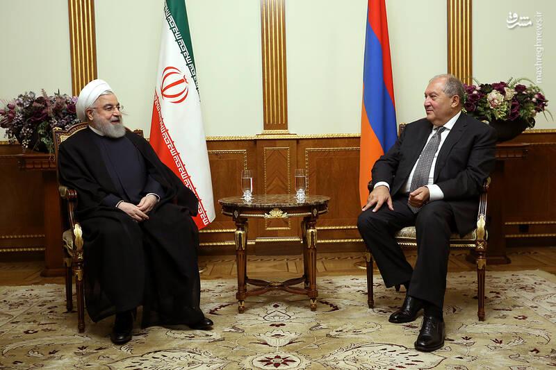 دیدار روحانی با رییس جمهور ارمنستان