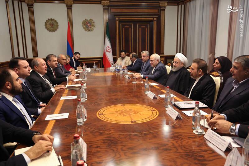 نشست مشترک ایران و ارمنستان