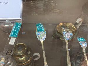 اشیاء قیمتی قاجار چگونه نگهداری میشود +عکس