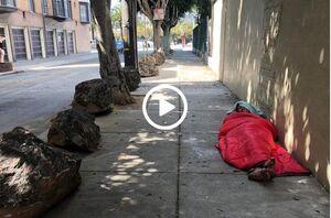 فیلم/ راه حل بیرحمانه آمریکاییها برای جلوگیری از جمع نشدن بیخانمانها