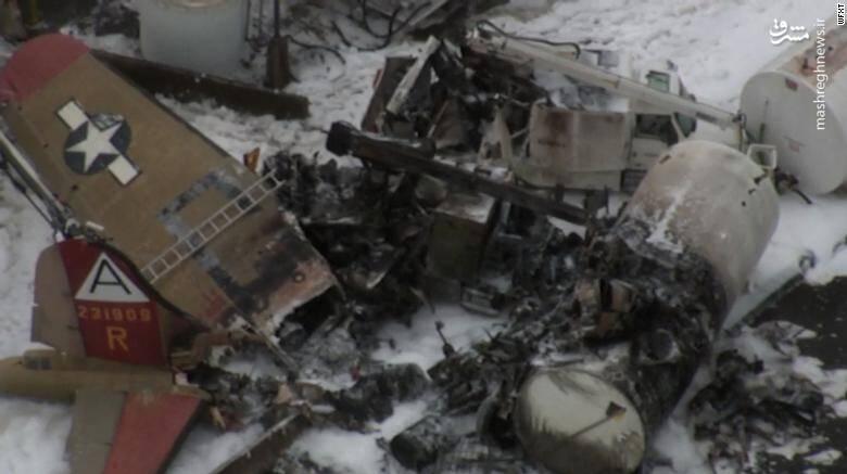 سقوط یک بمب افکن در آمریکا ، ۷ نفر کشته داد +عکس