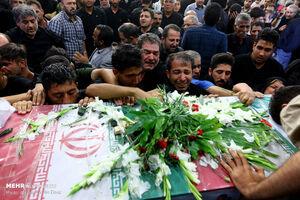 وداع با پیکر شهید محمود توکلی در اصفهان