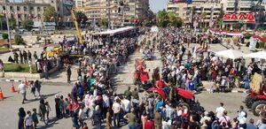 عکس/ جشنواره پنبه در شهر حلب سوریه