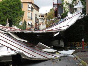 طوفان در استانبول ترکیه