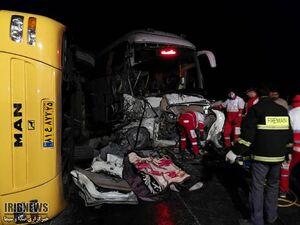 عکس/ برخورد مرگبار 4 خودرو در اتوبان زنجان