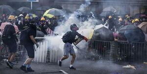 اعتراضات هنگکنگیها به سبک «مستر ربات» +عکس
