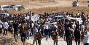 تظاهرات سوریها علیه حملات ترکیه به شمال سوریه