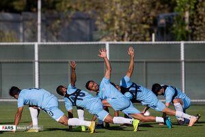 تمرین تیم ملی فوتبال در غیاب دژاگه +عکس