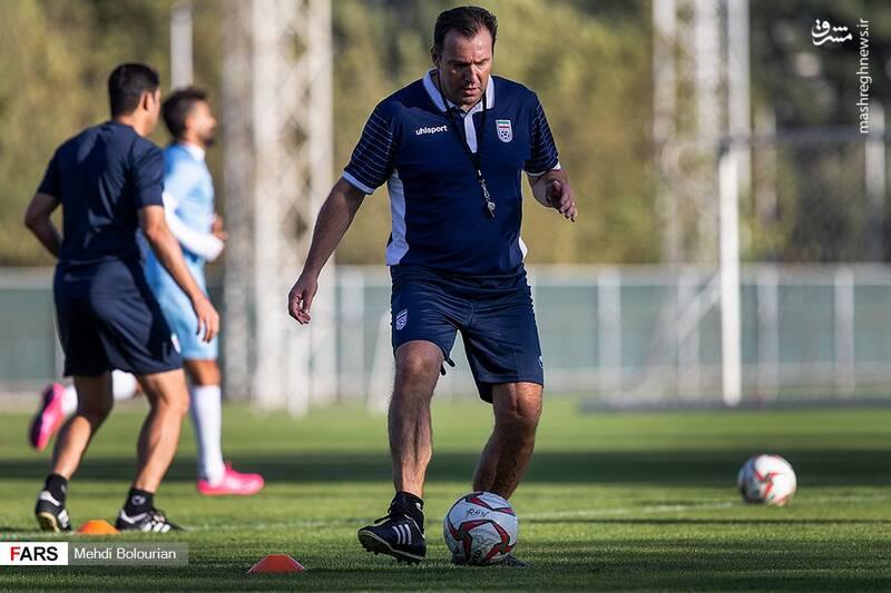 عکس/ تمرین یم ملی فوتبال