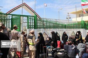 زائران اربعین حسینی در مرز خسروی