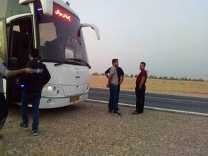 بگومگو با راننده اتوبوس در مسیر اربعین +عکس