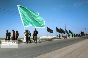 عکس/ پیاده روی اربعین در مسیرهای جنوبی عراق
