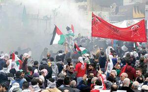 حمایت فلسطینیها از ملت یمن بهوسیله فوتبال