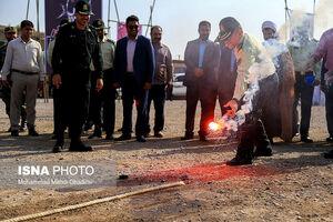 عکس/ امحای مواد مخدر به مناسبت هفته ناجا