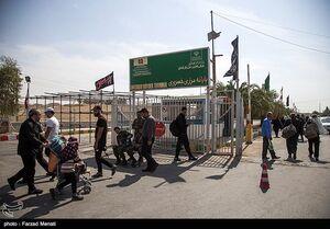 خروج زائران اربعین حسینی از مرز خسروی