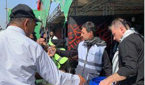 رئیس بنیاد مستضعفان در موکب مرز شلمچه